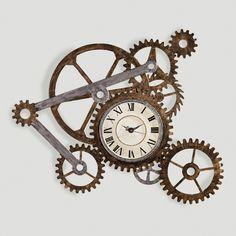 Gear Wall Art with Clock | World Market