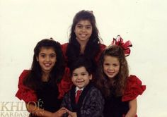 old Kardashian picture.. they were uuugly kids. Except Khloe, she was cute.