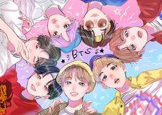btsfanart btsfanart BTS If you know the artist ple Bts Chibi, Bts Kawaii, Fanart Bts, Bts Drawings, Bts Fans, Foto Bts, Bts Pictures, Bts Wallpaper, Galaxy Wallpaper