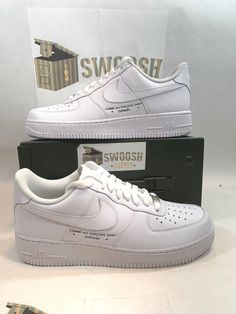 Details about SUPREME CDG NIKE AIR FORCE 1  07 - SIZE 9 New With Damaged Box 392053453