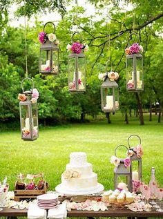 Hanging lanterns!