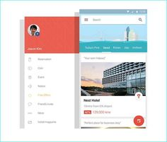 20 Example of Hotel App UI Design for Inspiration App Ui Design, Mobile App Design, Web Design, Mobile Ui, Hotel App, Android Icons, Google Material Design, Card Ui, Design Guidelines