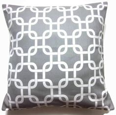 """2 16"""" throw pillows $25.  love these for our purple and gray bedroom!"""