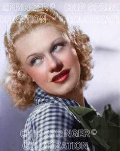 5 DAYS 8X10 YOUNG GINGER ROGERS IN CHECKERED SHIRT  COLOR PHOTO BY CHIP SPRINGER. Please visit my Ebay Store at http://stores.ebay.com/x5dr/_i.html?rt=nc&LH_BIN=1 to see the current listings of your favorite Stars now in glorious color! Message me if you would like me to relist your favorites.