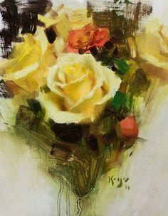 Daniel Keys Roses in art Oil Painting App, Art Painting Gallery, Garden Painting, Oil Painting Flowers, Painting & Drawing, Painting Still Life, Still Life Art, Rose Art, Anime Comics