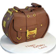 Torta Dior a forma di borsa