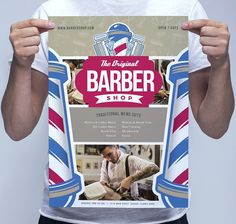 A3 Barber's Shop Poster Template by BrandPacks on @Graphicsauthor