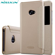 "Original NILLKIN Brand Sparkle Case for Xiaomi Mi Note 2 5.7"" Luxury Fashion PU Leather Cover Quality Case Open View Window"