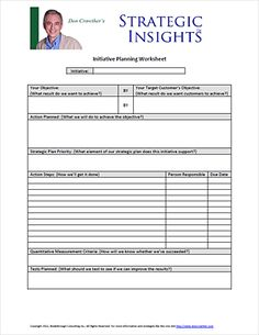 Worksheets Strategic Planning Worksheet pinterest the worlds catalog of ideas free downloadable business planning worksheet from don crowther httpdoncrowther com