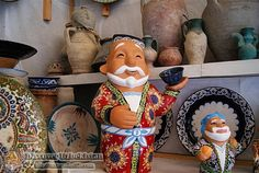 Uzbek clay figures in Bukhara