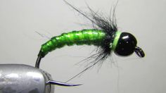 Rock Candy Larva by Richard Strolis. A two material caddis larva pattern that is virtually indestructible.  Was one of my top 2 anchor flies in 2010.  Tie this bad boy in olive and green and hang on.