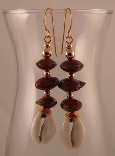 Afrocentric Nut Beads Copper Spacers Copper Handmade Ear Wires