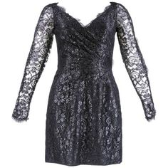 Preowned 1980s Azzaro Black Metallic Lace Cocktail Dress ($695) ❤ liked on Polyvore featuring dresses, black, cocktail dresses, asymmetrical lace dress, metallic pleated dress, sexy dresses, metallic lace dress and sexy metallic dress