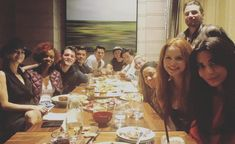 The first Cast Dinner of Season 3!! I'm feeling all the feels!!!! 💛💛💛💛