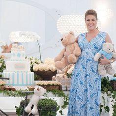 Ana Hickmann recebe amigos e familiares em chá de bebê; veja fotos - Famosos