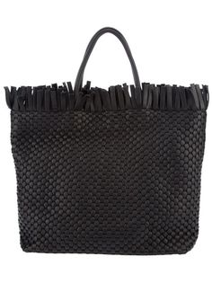BRUNO PARISE Woven Leather Tote