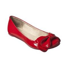 love red patent leather flats