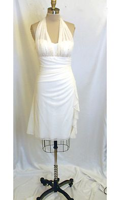 Mom, this is in ivory. Its like the other one.  Halter Top Ivory Dress by Blondie Nites 159055