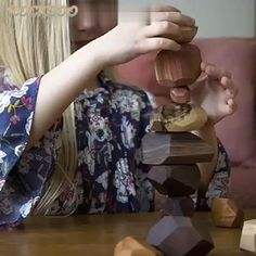 Creative Balancing Stacked Stones Building Block Educational Game Kid's Wooden Toys Stacked Stones, Satisfying Video, Educational Games, Games For Kids, Wooden Toys, Interiors, Children, Building, Face