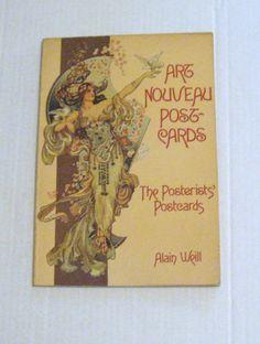 Art Nouveau Postcards: The Posterists Postcards Alain Weill 1977 1st Pr PB Good+ 9780895450159 | eBay  --beautiful illustration