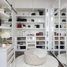 The organization of Olivia Culpo's closet makes me happy. Closet design by Lisa Adams
