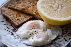 Grapefruit and Poached Eggs