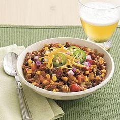 Slow-cooker Turkey Chili Recipe | MyRecipes.com