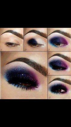 Smokey blue and purple eye