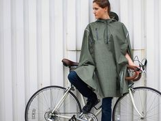 Rain Cape by Cleverhood  Remarkable! You will never need any other raingear. Beautifully constructed and well designed. You get what you pay for.........