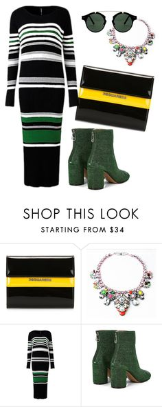 """Untitled #573"" by echi13 ❤ liked on Polyvore featuring Dsquared2, Shourouk, Maison Margiela and Spitfire"