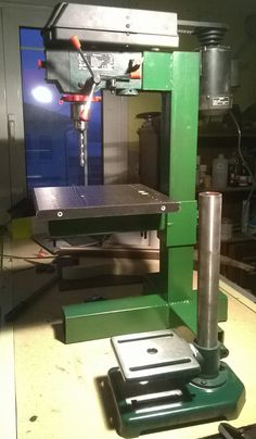 Drill Press Modification by immortalx -- I have a big floor drill press in my…