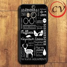 Harry Potter Spell HTC One M8 Black Case