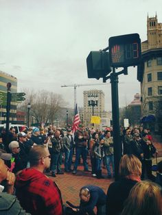 Shaving advocates rally for right to bare arms in Asheville's Pack Square Saturday, surprised by turnout