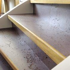Trapstofferingen met Marmoleum-artoleum-walton - Trap-Vloer Délon Interieurs