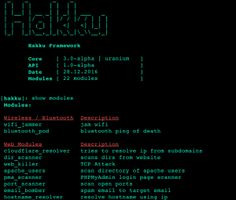 Hakku is simple framework that has been made for penetration testing tools. Hakku framework offers simple structure, basic CLI, and useful features for penetration testing tools developing.