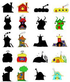 Bogyó és Babóca árnyjáték, házikók - forrás: http://www.bogyoesbaboca.com/arnyjatek.php