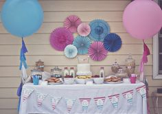"Photo 2 of 23: Gender Reveal Party / Gender Reveal ""Pink & Blue Ombre Gender Reveal"" 