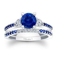 Blue Sapphire Bridal Set BSC-7539SBSW