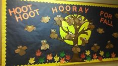 Image result for fall bulletin board ideas for preschool Owl