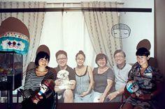 Taking family photos with skype