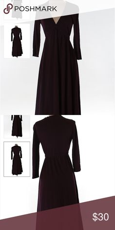 Jcrew midi dress Dark purple midi dress with long sleeves in excellent condition originally bought off thredup J. Crew Dresses Midi