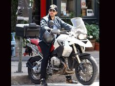 Magic man David Blaine is pictured here in New York with the uncompromising BMW R1200 GS