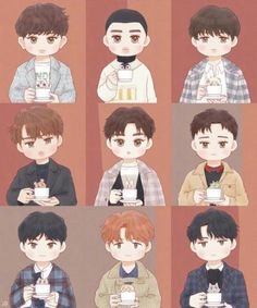 Funny Art Drawings People Ideas For 2019 Exo Cartoon, Cartoon Drawings, Hair Drawings, Drawing Hair, Exo Ot9, Kaisoo, Kyungsoo, Chibi, Exo Stickers