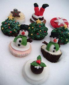 Lots of Christmas Cupcake Ideas | Party Cupcake Ideas