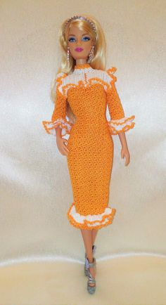 PDF Orange Cloud for Barbie par Crochetfashiondoll sur Etsy
