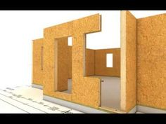 Animacion construccion de casa modular paneles SIP decocasas - YouTube