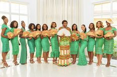 Maid of Honor: Traditional Engagement African Wedding Theme, African Wedding Dress, African Dress, Maid Of Honour Dresses, Maid Of Honor, Ghana Traditional Wedding, African Bridesmaid Dresses, Kente Dress, Ghana Wedding