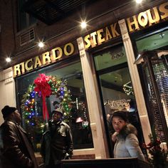 Ricardo Steak House is located just north of 110th Street, on Second Avenue in Manhattan. The restaurant employs a live D.J., and it is not uncommon for patrons to drop their conversations to sing along to whatever '90s favorite comes on. (Photo: Yana Paskova for The New York Times)