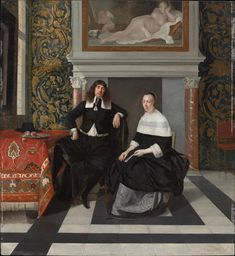 Portrait of a Man and Woman in an Interior 1665–1667 Museum of Fine Arts, Boston