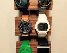 Walnut watch display